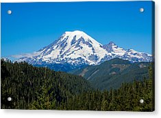 Mount Rainier Acrylic Print by John M Bailey