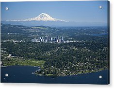 Mount Rainier, Lake Washington Acrylic Print