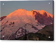 Mount Rainier Sunrise Acrylic Print by Bob Noble Photography
