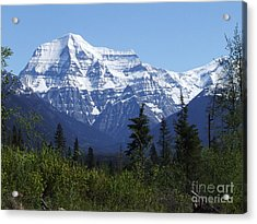 Mount Robson - Canada Acrylic Print by Phil Banks
