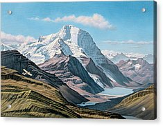 Mount Robson From The Air    Acrylic Print