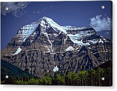 Mount Robson Acrylic Print by Richard Farrington