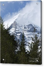 Mount Robson - Spindrift Acrylic Print by Phil Banks