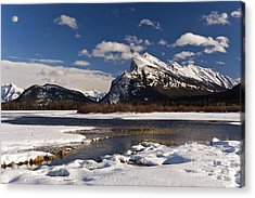 Mount Rundle Acrylic Print by Dee Cresswell