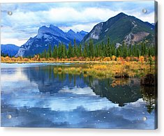 Acrylic Print featuring the photograph Mount Rundle by Gerry Bates