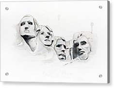 Mount Rushmore Acrylic Print by Astrid Rieger