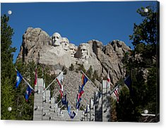 Mount Rushmore Avenue Of Flags Acrylic Print
