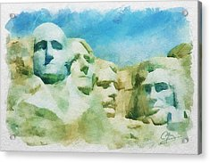 Mount Rushmore Acrylic Print by Greg Collins