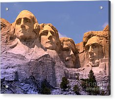 Mount Rushmore Acrylic Print by Olivier Le Queinec