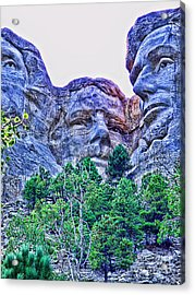 Mount Rushmore Roosevelt Acrylic Print by Tommy Anderson