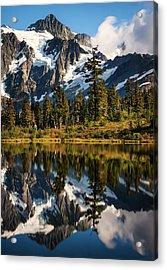 Mount Shuksan Reflections Acrylic Print by Alexis Birkill