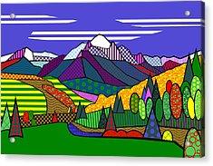 Mount Sneffels Acrylic Print by Randall Henrie