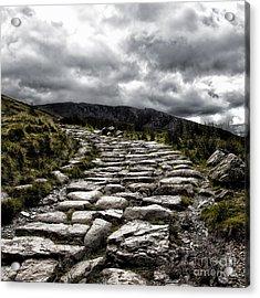 Mount Snowdon Path Acrylic Print by Jane Rix