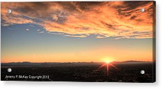 Acrylic Print featuring the photograph Mount Soledad Panoramic Sunrise by Jeremy McKay