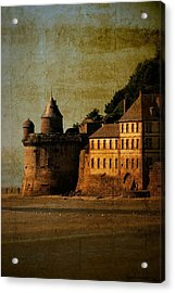 Mount St Michael's Tower Acrylic Print by Karo Evans
