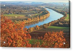 Mount Sugarloaf Connecticut River Autumn Acrylic Print by John Burk