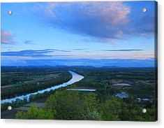Mount Sugarloaf Connecticut River Spring Evening Acrylic Print by John Burk