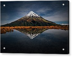 Mount Taranaki - A Starry Night Acrylic Print