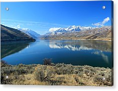 Mount Timpanogos From Deer Creek Acrylic Print by Johnny Adolphson