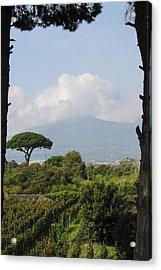 Mount Vesuvius Acrylic Print by Adam Romanowicz