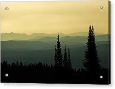Mount Washburn Mist Acrylic Print by Todd Klassy
