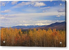 Mount Washington And Presidential Range Snow Foliage Acrylic Print