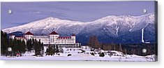 Mount Washington Hotel Winter Pano Acrylic Print