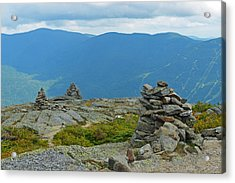 Mount Washington Rock Cairns Acrylic Print