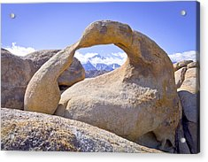 Mount Whitney Framed By The Mobius Arch Acrylic Print by Priya Ghose