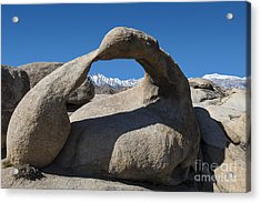 Mount Whitney Through Mobius Arch Acrylic Print by Sandra Bronstein
