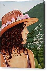 Mountain Beauty Acrylic Print by Charles Luna