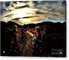 Mountain Biking Ladies Acrylic Print by Scott Allison