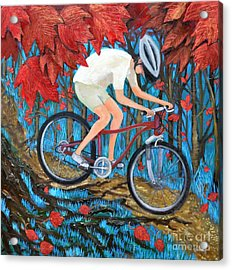 Mountain Biking Acrylic Print