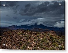 Mountain Blanket Acrylic Print by Bill Cantey