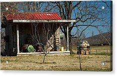 Mountain Cabin In Tennessee 1 Acrylic Print by Douglas Barnett