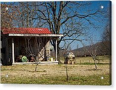 Mountain Cabin In Tennessee 2 Acrylic Print by Douglas Barnett
