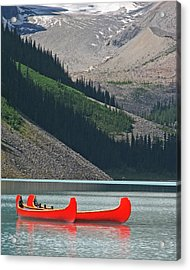 Mountain Canoes Acrylic Print
