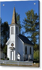 Mountain Chapel Acrylic Print by Anthony Baatz