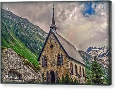 Acrylic Print featuring the photograph Mountain Chapel by Hanny Heim