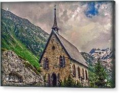 Mountain Chapel Acrylic Print by Hanny Heim