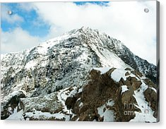 Mountain Covered With Snow Acrylic Print