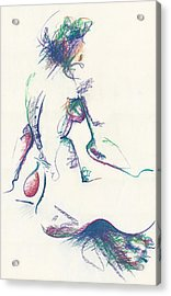 Mountain Dew Nude Acrylic Print by Melinda Dare Benfield