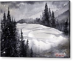 Mountain Drift Acrylic Print by Tim Oliver