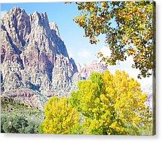 Mountain Fall Delight Acrylic Print