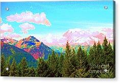 Mountain Fantasy Acrylic Print by Ann Johndro-Collins