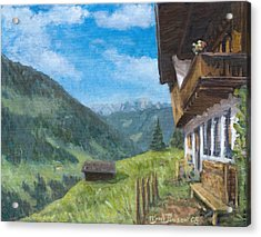 Mountain Farm In Austria Acrylic Print by Marco Busoni