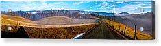 Mountain Farm Panorama Version 2 Acrylic Print by Tom Culver