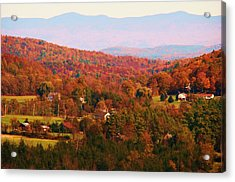 Mountain Foliage Series 035 Acrylic Print