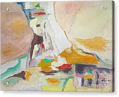 Mountain Glacier Abstract Acrylic Print