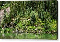 Mountain Green Acrylic Print by Adam Pender